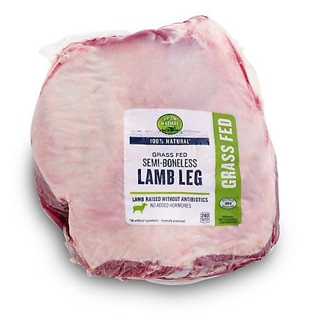 Open Nature Lamb Leg Semi Boneless Imported - 4 LB