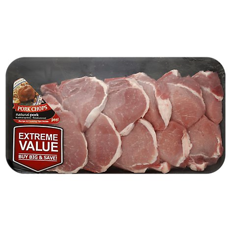 Meat Counter Pork Loin Assorted Chops Thin Value Pack - 3 LB