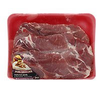 Meat Counter Pork Steak Shoulder Blade Steak Bone In - 1.50 LB