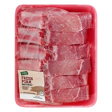 Meat Counter Pork Loin Country Style Rib Value Pack - 4 LB