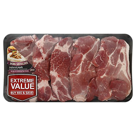 Meat Counter Pork Shoulder Blade Steak Boneless Value Pack - 2.50 LB