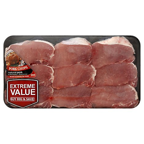 Pork Top Loin Boneless Pork Chop Value Pack - 3.00 Lbs.