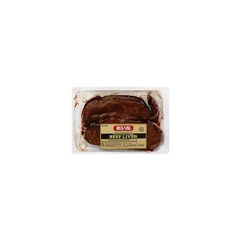 Meat Counter Beef Liver Cup Sliced Frozen / Defrosted - 1 LB