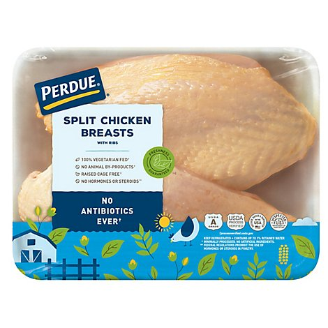 PERDUE Chicken Breast Split With Rib Fresh - 1.00 LB