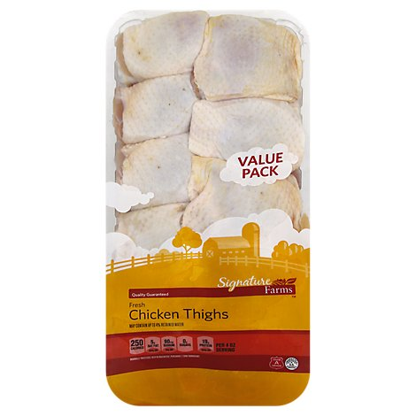 Signature Farms Bone In Chicken Thighs Value Pack - 5.5 Lbs.