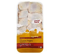 Signature Farms Chicken Thighs Bone In Value Pack - 5.50 LB