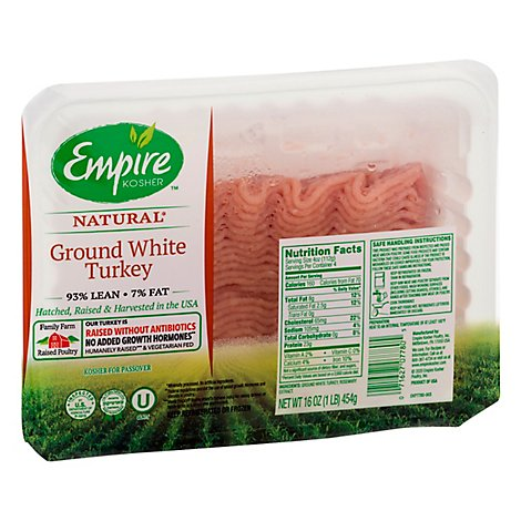 Empire Kosher Turkey Ground White Meat Fresh - 16 Oz