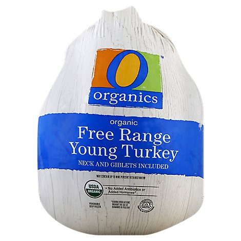O Organics Organic Turkey Young Whole Frozen - Weight Between 9-16 Lbs