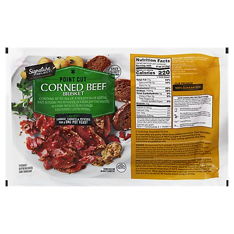 Signature Farms Beef Corned Beef Brisket Point Cut - 1 Count