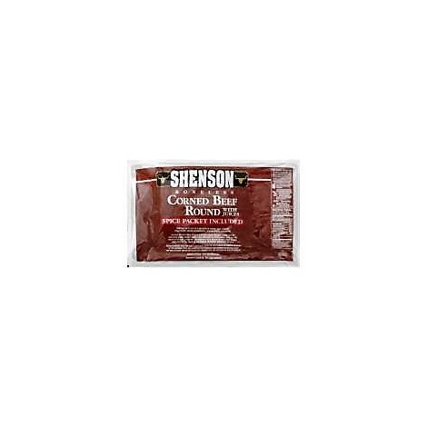Shensons Corned Beef Boneless Round With Juices - 3.50 LB