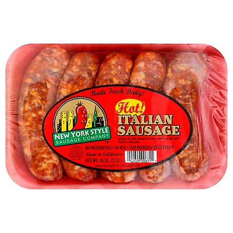 New York Style Sausage Company Sausage Italian Hot - 16 Oz