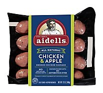 Aidells Smoked Chicken Sausage Links Chicken & Apple 4 Count - 12 Oz