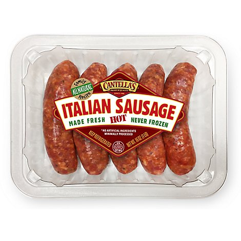 Papa Cantellas Hot Italian Sausage Links - 16 Oz.