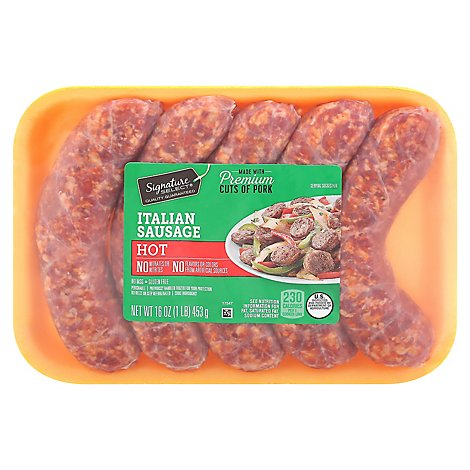 Signature SELECT Sausage Italian Hot - 16 Oz