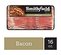 Smithfield Bacon Naturally Hickory Smoked Thick Sliced - 16 Oz