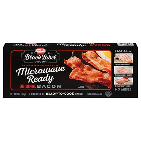 Hormel Black Label Microwave Ready Original Bacon - 12 Oz.