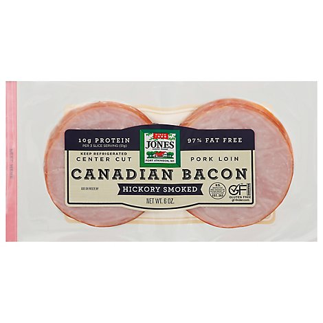Jones Canadian Bacon - 6 Oz.