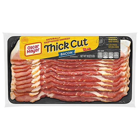 Oscar Mayer Hardwood Smoked Thick Cut Bacon - 16 Oz.