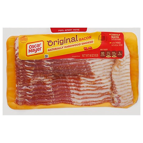 Oscar Mayer Hardwood Smoked Bacon - 16 Oz.