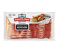 Farmer John Smoked Thick Sliced Bacon - 16 Oz.