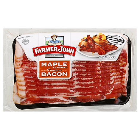 Farmer John Bacon Smoked Sliced Old Fashioned Maple - 16 Oz
