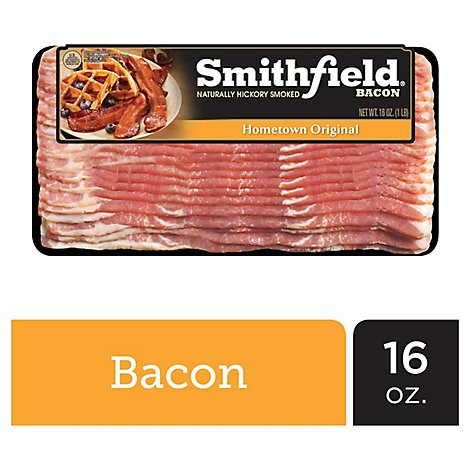 Smithfield Naturally Hickory Smoked Bacon - 16 Oz.