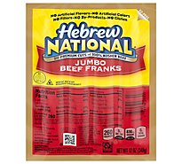 Hebrew National Beef Franks Jumbo - 12 Oz