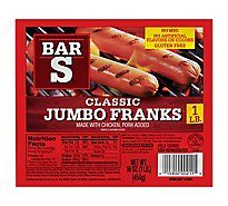 Bar-S Franks Jumbo - 16 Oz
