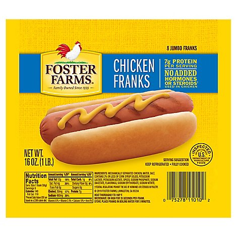 Foster Farms Chicken Franks - 16 Oz