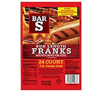 Bar-S Franks Bun Length Family Pack 24 Count - 48 Oz