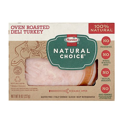 Hormel Natural Choice Oven Roasted Deli Turkey - 8 Oz.