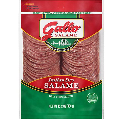 Gallo Salame Deli Thin Sliced Italian Dry Salame - 15.2 Oz