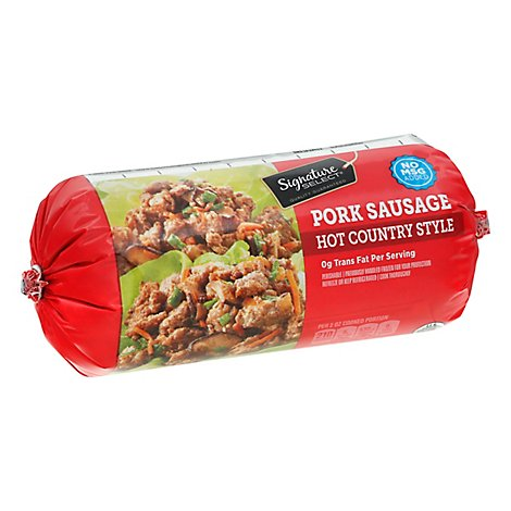 Signature SELECT Pork Sausage Roll Hot Country Style - 16 Oz