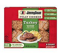 Jimmy Dean Fully Cooked Turkey Sausage Patties 8 Count - 9.6 Oz