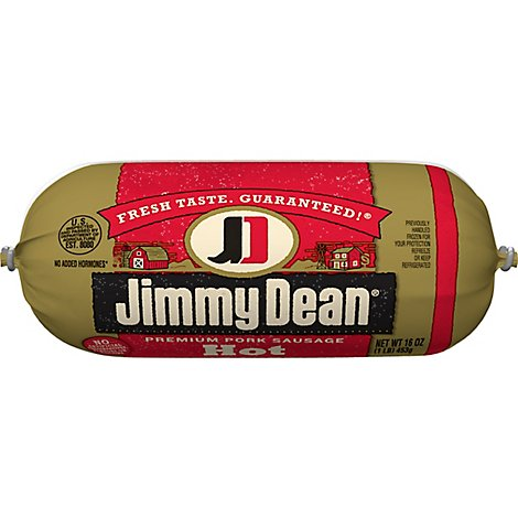 Jimmy Dean Premium Pork Hot Sausage Roll 16 Oz