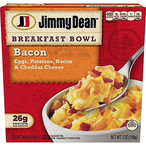 Jimmy Dean Bacon Egg & Cheese Breakfast Bowl 7 Oz
