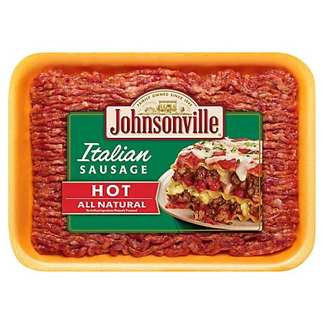 Johnsonville Sausage Ground Pork Italian Hot - 16 Oz