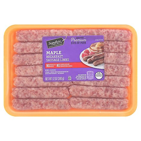 Signature Sausage Breakfast Links Maple - 12 Oz