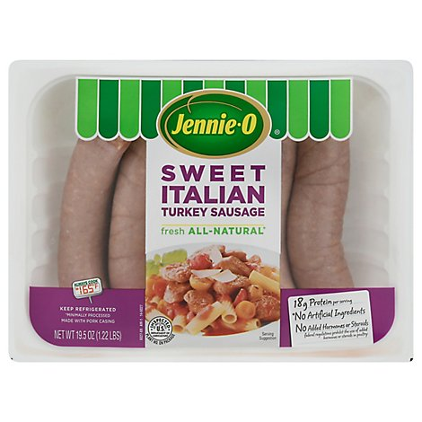 Jennie-O Turkey Sausage Sweet Italian - 19.5 Oz