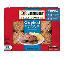 Jimmy Dean Fully Cooked Original Pork Sausage Patties 8 Count - 9.6 Oz