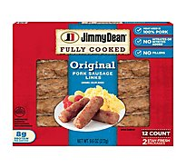 Jimmy Dean Fully Cooked Original Pork Sausage Links 12 Count - 9.6 Oz