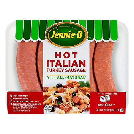 Jennie-O Turkey Sausage Hot Lean Italian - 19.5 Oz
