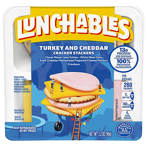 Lunchables Lunch Combinations Turkey & Cheddar With Crackers - 3.2 Oz