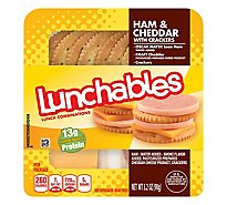 Lunchables Basic Ham & Cheddar Cheese With Crackers - 3.2 Oz
