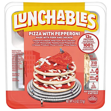 Lunchables Lunch Combinations Pizza With Pepperoni Free Kabob Ulator - 4.3 Oz