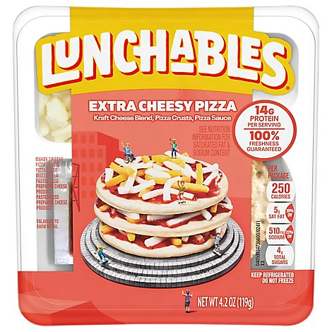 Lunchables Lunch Combinations Pizza Extra Cheesy Free Kabob Ulator - 4.2 Oz