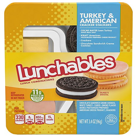 Lunchables Lunch Combinations Cracker Stackers Turkey & American - 3.4 Oz