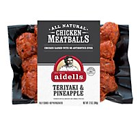Aidells Chicken Meatballs Teriyaki & Pineapple 12 Oz
