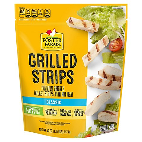 Foster Farms Chicken Breast Strips Grilled - 20 Oz
