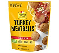 Foster Farms Turkey Meatballs Italian Style - 32 Oz